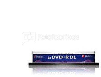 1x10 Verbatim DVD+R Double Layer 8x Speed, 8,5GB matt silver