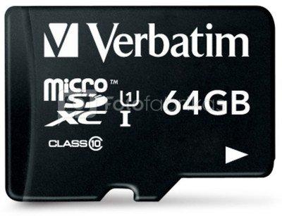 Verbatim microSDXC 64GB Class 10 incl Adapter