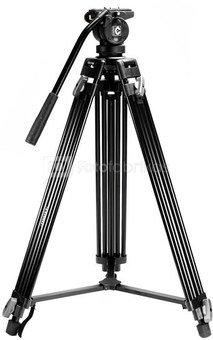 Caruba Videostar 180 Pro Videostatief + vloeistof gedempte kop