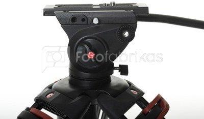 Videostar 188 Pro Videostatief + vloeistof gedempte kop en Spreader