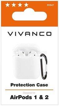 Vivanco case AirPods 1/2, white