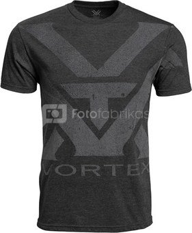 Vortex Charcoal Heather Oversize Logo T-shirt Size XXL