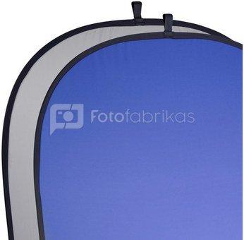 walimex 2in1 Foldable Background grey/blue, 180x210cm