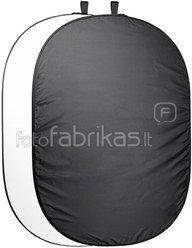 walimex Foldable Background 200x230cm black/white