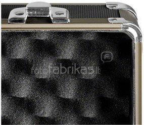 mantona Aluminium Foto Case Basic M black / brown