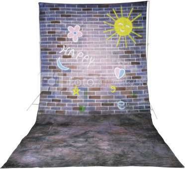 walimex pro Cloth Background Happy, 3x6m