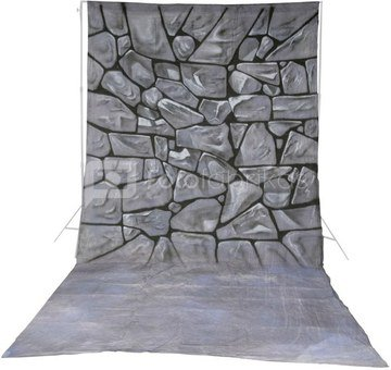 walimex pro Cloth Background Stones, 3x6m