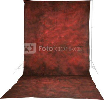 walimex pro Cloth Background Structural Red, 3x6m