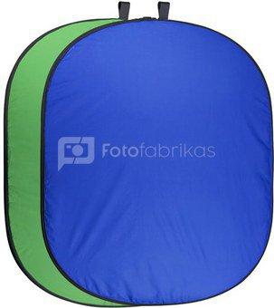 walimex pro Foldable Background green/blue 150x210cm