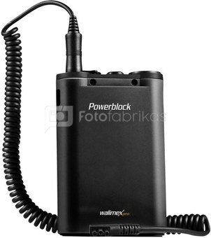 walimex pro Powerblock II black with Coiled Cord Canon