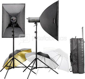 Walimex pro Studioset plus VC-200/200 + priedai + lagaminas