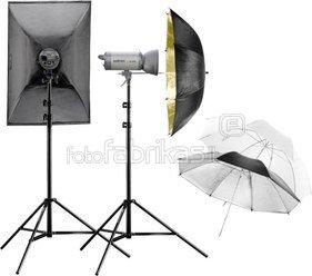 Walimex pro Studioset VC-200/200 + Softbox + Umbrellas