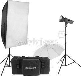 Walimex pro Studioset VE-150/150 + Softbox 60x90cm