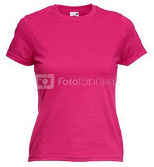 Moteriški marškinėliai su Jūsų nuotrauka, užrašu, rausvi