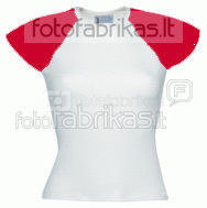 Women's T-shirts / red sleeve
