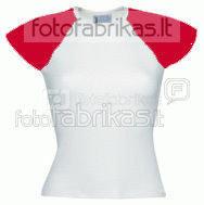 Moteriški marškinėliai / raudon.rankovės