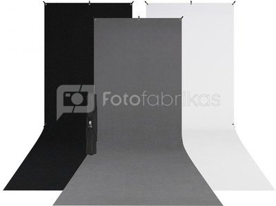 Westcott X Drop 3 Pack Sweep Backdrop Kit (5' x 12')