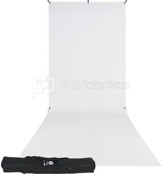 Westcott X Drop Wrinkle Resistant Backdrop Kit   High Key White Sweep (5' x 12')