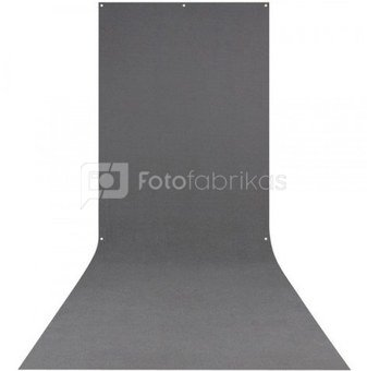 Westcott X Drop Wrinkle Resistant Backdrop   Neutral Gray Sweep (5' x 12')