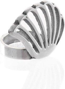Žiedas servetėlėms sidabro spalvos 89356 H:5, W:7, D:4,5 cm.