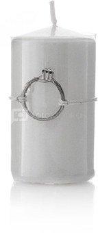 Žvakė cilindras vestuvėms balta H 7.5 cm, D 4 cm 871125251831