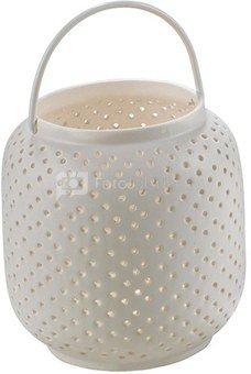 Žvakidė balta h 13.5 cm keramikinė O1028 Q