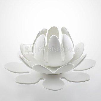 Žvakidė gėlė keramikinė balta 32.5x15 cm O386 Mascagni