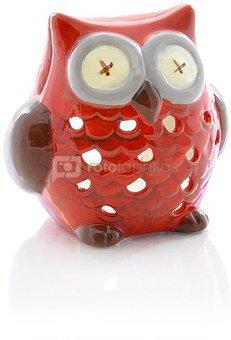 Žvakidė keramikinė Pelėda raudona 11.5x7.5x11 SAVEX