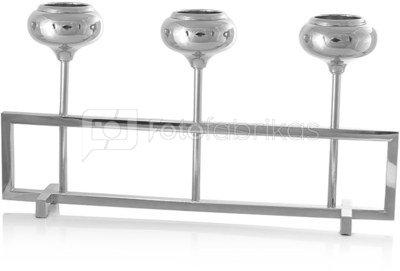Žvakidė stiklinė ant metalinio pagrindo 3 žv. L 44 cm HR16305 SAVEX