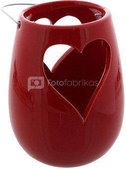 Žvakidė su širdele radona keramikinė H:24 W:11 D:11 cm 61105
