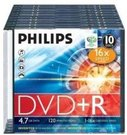 1x10 Philips DVD+R 4,7GB 16x SL