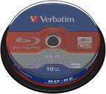 1x10 Verbatim BD-RE Blu-Ray 25GB 2x Speed, Cakebox