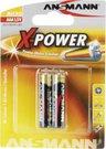 1x2 Ansmann Alkaline Micro AAA LR 03 X-Power