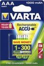 1x2 Varta Rechargeable Accu AAA Ready2Use NiMH 1000 mAh Micro