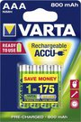 50x4 Varta Rechargeable Accu NiMh 800 mAh Micro