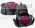 638-544 Krepšys foto ir vaizdo aparaturai juodas-raudonas
