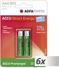 6x2 AgfaPhoto Akku NiMh Micro AAA 950 mAh Direct Energy