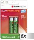 6x2 AgfaPhoto Akku NiMh Mignon AA 2100 mAh Direct Energy