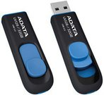 A-DATA DashDrive UV128 16GB Black+Blue USB 3.0 Flash Drive, Retail