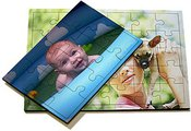 A6 jigsaw puzzle with a picture (9x13cm., 12 pcs., Frame)