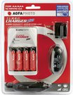 AgfaPhoto Turbo Charger incl. 4 rech. batteries 2700 mAh