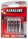 1x4 Ansmann Alkaline Mignon AA LR 6 red-line