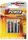 1x4 Ansmann Alkaline Micro AAA LR 03 X-Power