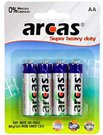 Arcas Super Heavy Duty AA (LR06), 4-pack