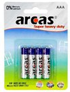 Arcas Super Heavy Duty AAA (LR03), 4- pack