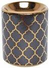 Aromatinė lempa juoda su marokiniais motyvais 7,5 x 7,5 x 9 cm 1156