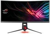 """Asus XG35VQ 35 """", VA, UWQHD, 3440 x 1440 pixels, 21:9, 4 ms, 300 cd/m², Dark gray, Red"""