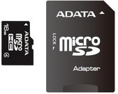 Atminties kortele A-Data 16GB microSD SDHC su adapteriu