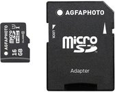 AgfaPhoto Mobile High Speed 16GB MicroSDHC Class 10 + Adapter