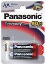 Baterijos Panasonic EVERYDAY LR6-2BP